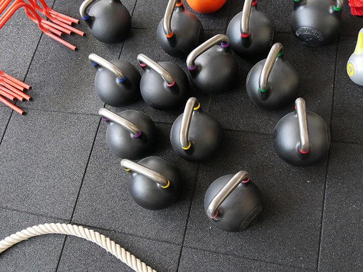Kettleblles au club de sport MyFit à Annecy
