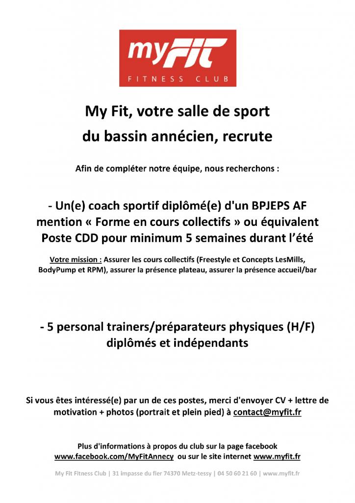 Recrutement coachs et personal trainers en 2020
