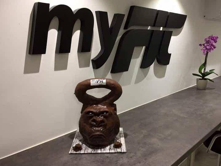 Salle de fitness MyFit à Annecy - Plaisir Kettlebell en chocolat
