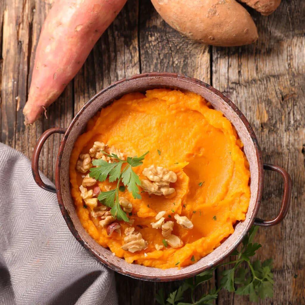 Hachi parmentier de patate douce à la mexicaine