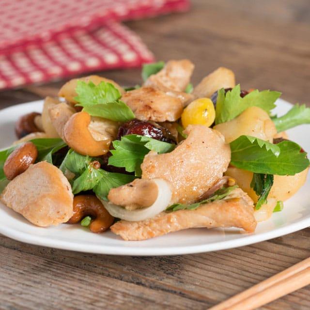 Salade de poulet aux noix de cajou